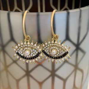 Evil Eye Small Hoop Earrings